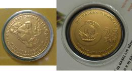 Malaysia 2003 25 Cent Nordic Gold Coin BU 25 Cent Animal  2003 Proboscis Monkey - Malaysia
