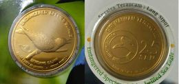 Malaysia 2005 2004  25 Cent Nordic Gold Coin BU  Bird Asian Fairy Bluebird - Malaysia