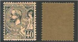 """Monaco YT 17 """" Prince Albert 1er 40c. Bleu S. Rose """" 1891-94 Neuf ** - Monaco"""