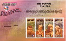 Nevis MNH Tour De France Sheetlet And SS - Cycling