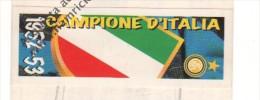 STRISCIA ADESIVA INTER CAMPIONE D'ITALIA 1952/53 - - Panini