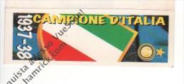 STRISCIA ADESIVA INTER CAMPIONE D'ITALIA 1937-38 - - Panini