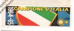 STRISCIA ADESIVA INTER CAMPIONE D'ITALIA 1964-65 - - Panini