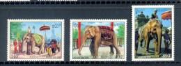 LAOS * SERIE 3v 1994 * CEREMONIAL ELEPHANTS * MNH - Laos