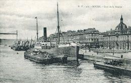 """N°44857 -cpa Rouen -le """"Sandhurst"""" à Quai - Commerce"""