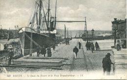 N°44859 -cpa Rouen -lle Quai Du Havre - Commerce