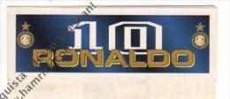 STRISCIA ADESIVA DI RONALDO 10 - INTER - - Panini