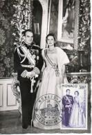 Monaco. Carte Maximum. Mariage Princier. 16/5/59. Poste Aérienne - Maximum Cards