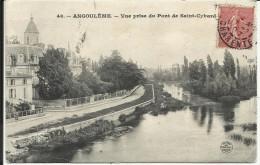 ANGOULEME , La Charente , Vue Prise Du Pont De Saint Cybard , 1907 - Angouleme