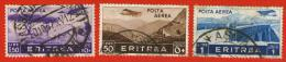 Italia Regno 1936 - Eritrea - Psta Aerea 3 Valori Unificato ER A21- ER A22 - ER A18 - Eritrea
