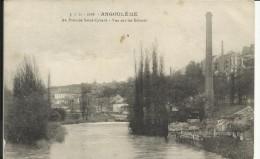 ANGOULEME , Au Pont De  Saint Cybard , Vue Sur Les Ecluses - Angouleme