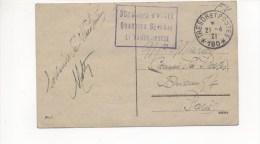 CAD TRESOR ET POSTES 180 - 21 Avril 1921 + Cachet 30ème CORPS D'ARMEE QUARTIER GENERAL Sur C.P. De Wiesbaden - Postmark Collection (Covers)