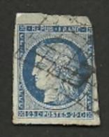 UN TIMBRE POSTE DE FRANCE   N° 4 - 1849-1850 Ceres