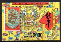 Tokelau 2000 Bangkok 2000 - Year Of The Dragon MS MNH - Tokelau