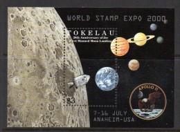 Tokelau 2000 World Stamp Show, Anaheim - Moon Landing MS MNH - Tokelau