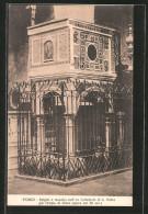 Cartolina Fondi, Pulpito A Mosaico Nell' Ex Cattedrale Di S. Pietro Già Tempio Di Giove - Italia