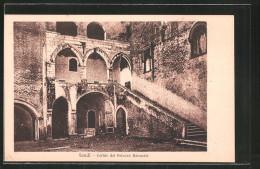 Cartolina Fondi, Cortile Del Palazzo Baronale - Italia