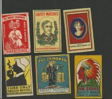 6 Anciennes étiquettes De Boites D´allumettes - Matchbox Labels