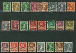 Suisse /Schweiz/Svizzera/Switzerland //1907 //lot De Timbres Tell Fils Et Tell Père Oblitéré - Lotti/Collezioni