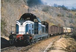 CPM LE RAIL USSELLOIS N°312 BB 66245 En Approche De Condat St Amandin 15 - Trenes