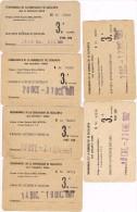 15514. Bonito Lote 7 Abonos De Transporte Ferrocarril BELLATERRA (Barcelona) 1980-1981 - Abonos