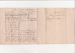 DOCUMENT MANUSCRIT DE 1821 SUR LE REGLEMENT DU JEUX DE COQUET EN 300 POINTS. - Other Collections