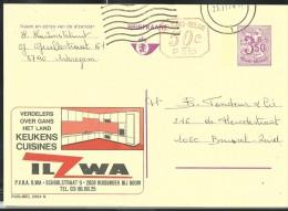 Publibel Obl. 2584 + P 010 ( Cuisines-Keukens ILZWA) Obl: 1974 - Stamped Stationery