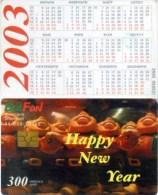Telefonkarte Bulgarien - BulFon - Kalender 2003 - Happy New Year  - 300 Units  -  Aufl. 35000 - 10/02 - Bulgarien