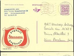 Publibel Obl. 2579 + P 010 ( STASSANO; Yoghurt) Obl: Ternat 1974 - Entiers Postaux