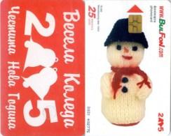 Telefonkarte Bulgarien - BulFon - Weihnachten - Schneemann   - 25 Units  -  Aufl. 70000 - 10/04 - Bulgarien