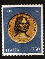 Italie Italia 1992 N° 1939 ** Laurent De Médicis, Magnifique, Médaille, Or, Renaissance, Chasse, Diplomatie, Poésie - 1991-00: Ungebraucht