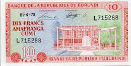 BURUNDI : 10 Francs 1970 (unc/aunc+) - Burundi