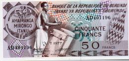 BURUNDI : 50 Francs 1977 (unc) - Burundi