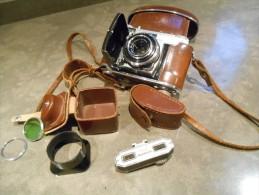 Fototoestel Kodak Retina I B Met Etui + Extra Filters En Watameter + Handleiding + Inklaringsattest + Identiteitsbewijs - Appareils Photo