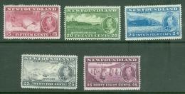 Newfoundland: 1937   Coronation Issue  Set  [Perf: 13.7]   MH - 1908-1947
