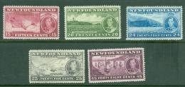 Newfoundland: 1937   Coronation Issue  Set  [Perf: 14.1]   MH - Newfoundland