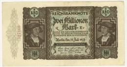 GERMANIA - 2 MILLIONEN Mark, Reichsbanknote 1923 - PERIODO INFLAZIONE - 727166 - SPL - 2 Millionen Mark