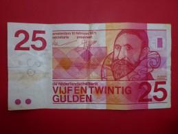 BILLET 25 GULDEN 1971 - Paises Bajos