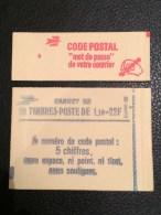 """LOT DE 2  /  CARNET 1972  /  Sabine  """" CODE POSTAL""""  / DONT 1 MATE  ( LOT DE 10 )  /  Voir Photo ...Merci. - Carnets"""