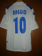 Maglia BRESCIA ROBERTO BAGGIO #10 Originale Bianca Toppa Lega Calcio RARA - Uniformes Recordatorios & Misc