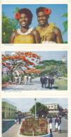 R58 - ILES FIDJI FIJI - Carte Postale Dépliant Souvenir 6 Vues - Fidji