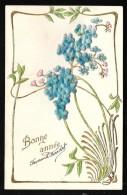 Carte Gauffrée , Bonne Année , Fleurs   Hak48 - Nouvel An