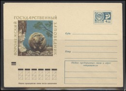 RUSSIA USSR Stamped Stationery Ganzsache 9273 1973.11.05 Fauna Animals Beaver - 1970-79