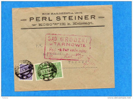 """MARCOPHILIE-lettre Commerciale-""""PERL STEINER""""*1934- Afft 3 Timbres Pour Tarnow - Covers & Documents"""