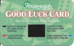 Fitzgeralds Casino Reno, NV Good Luck Card - Casino Cards