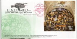 Centenaire De La Révolution Mexicaine De 1910, Les Héros (Tableau Du Musée Diego Rivera & Frida Kahlo.Mexico) FDC - Mexiko