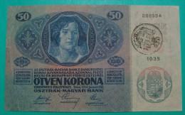 RARE *CITA DI FIUME* ITALIA YUGOSLAVIA 50 KRONEN  ND 1918 (OLD DATE 1914), HIGH QUALITY, PICK - S113a, ORIGINAL SEAL - Yugoslavia