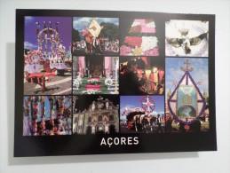 POSTCARD CARTE POSTALE PORTUGAL AZORES AÇORES FESTAS DO DIVINO ESPIRITO SANTO FEASTS OF THE HOLY SPIRIT - Açores