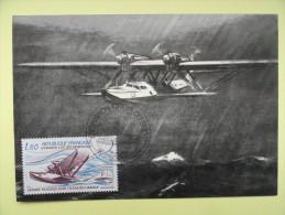 CARTE MAXIMUM CARD HYDRAVION LATECOERE 300 CROIX DU SUD DE MERMOZ FRANCE - Vliegtuigen