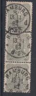 DR Minr.44 Senkr. 3er Streifen Mit Plf. V Gestempelt Hamburg - Deutschland
